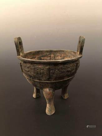 Chinese Bronzen Tripod Vessel
