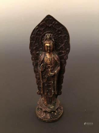 Chinese Bronzen Guanyin Buddha