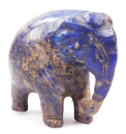 An oriental soapstone model of a elephant, c1900, 7cm long.