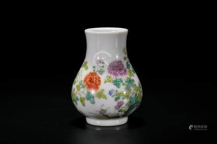A Small Famille Rose 'Flower' Vase