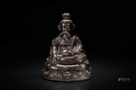 A Bronze 'Shangshi' Sitting Figure