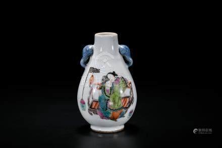 A Famille Rose 'Figure' Vase