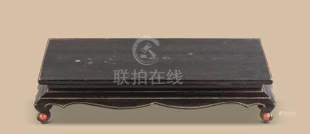 明代(1368-1644) 黑漆长方平桌