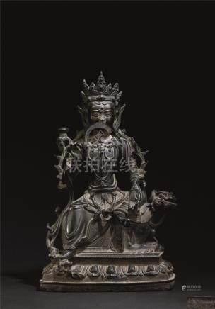 明代(1368-1644) 铜普贤菩萨座像