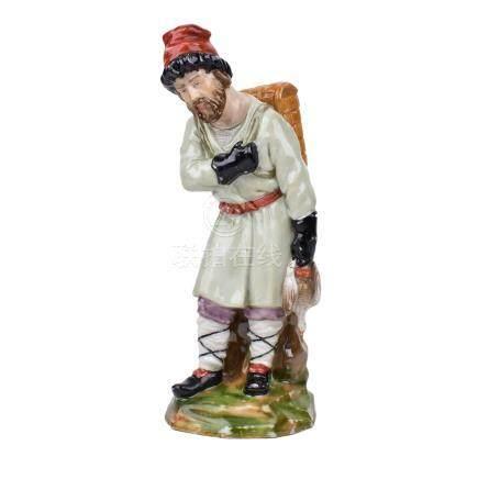 Imperial Russian Porcelain Bird Merchant