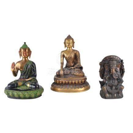Three (3) Antique Thai Buddhist Figurines