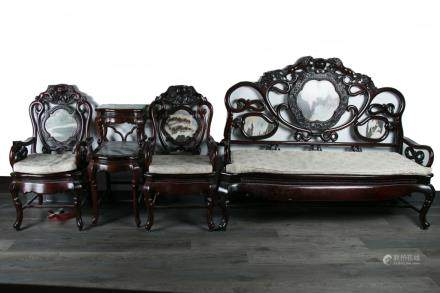 A SET OF FOUR PIECES SUANZHI FURNITURE REPUBLIC