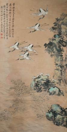 JIN MENGSHI (1869-1952) CRANE