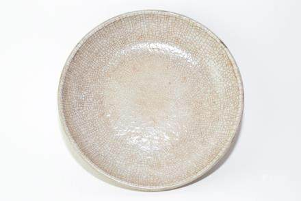 Late Qing Chinese Faux Ge Glaze Plate