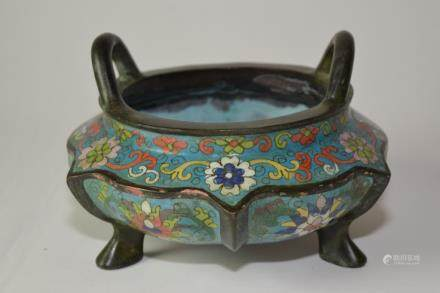 Chinese Cloisonne Censer, Xuande Mark