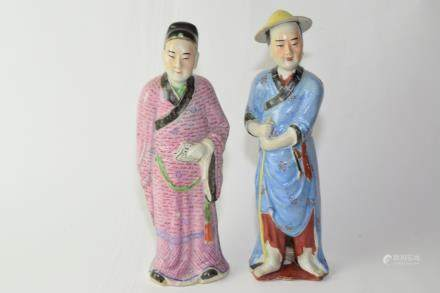 Two Republic Chinese Famille Rose Figures