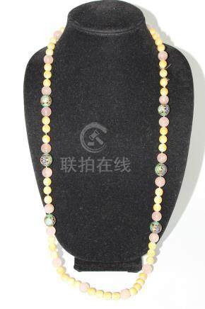 Chinese beaded necklace. Qing dynasty.