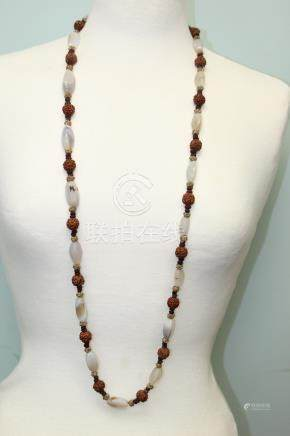 Chinese agate beads necklace.