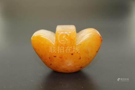 Chinese yellow jade pendant.