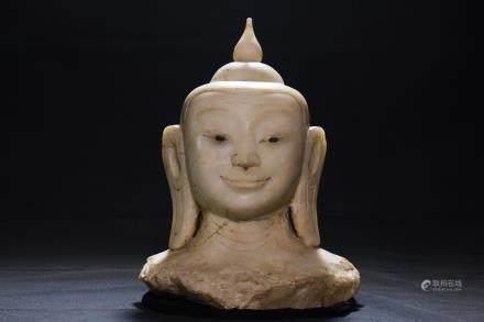 BUDDHA HEAD - BURMA - 19th CENTURY