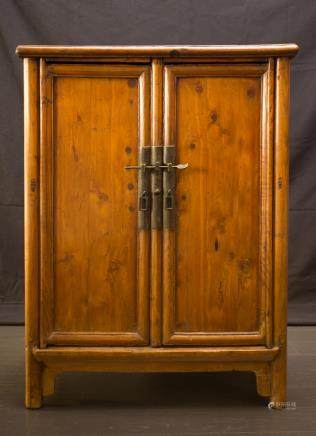CABINET - BOOK CASE - CHINA, SHANXI PROVINCE - NATURAL CYPRESS WOOD - 18TH CENTURY