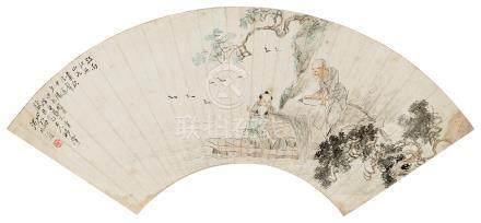 沈兆涵(1855~1941) 1904年作 渔归 镜心 设色纸本