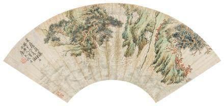 陆恢(1851~1920) 1893年作 匡庐飞瀑 镜心 设色纸本