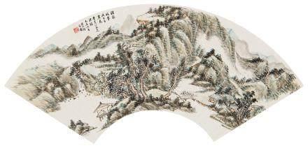 何维朴(1842~1922) 1919年作 浮岚暖翠 镜心 设色纸本