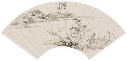 楼辛壶(1881~1950) 仿倪云林笔意 镜心 水墨纸本