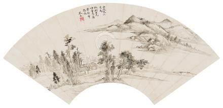 吴琴木(1894~1953) 1922年作 仿董其昌笔意 镜心 水墨纸本