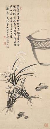 徐宗浩(1880~1957) 1944年作 清趣 立轴 水墨纸本