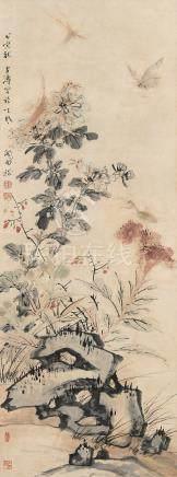 王雪涛(1903~1982) 1998年作 秋趣 立轴 设色纸本
