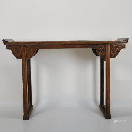CHINESE HUALI WOOD ALTER TABLE