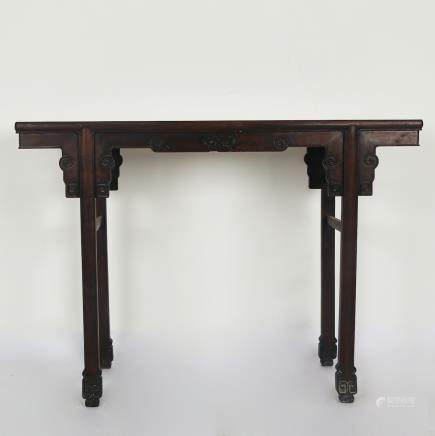 CHINESE HARDWOOD/ZITAN WOOD ALTER TABLE