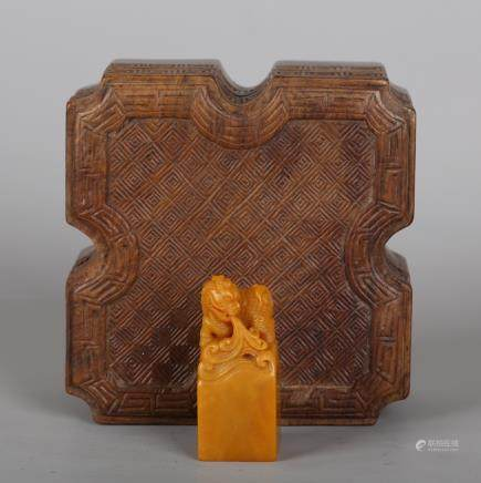 CHINESE SOAPSTONE TIANHUANG FOOLION SEAL