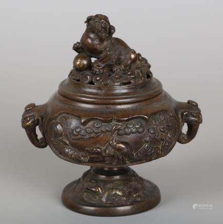 CHINESE BRONZE FOOLION CENSER
