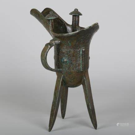 CHINESE BRONZE JUE CUP