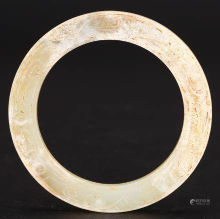 CHINESE ARCHAIC JADE RING