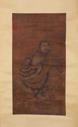 CHINESE INK AND COLOR SCROLL PAINTING