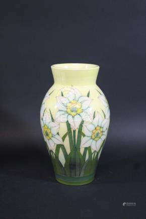 DENNIS CHINA WORKS VASE a vase decorated in the Daffodil design, designed by Sally Tuffin. Marked,