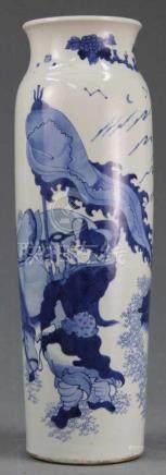 Vase Blau - Weiß? - Porzellan. China alt, um 1900. 47,5 cm hoch.Vase Blue - White? - Porcelain.