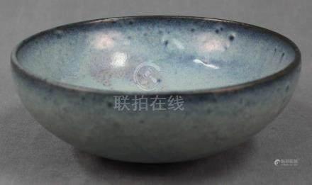 Jun Glasur. Schale. Keramik. (Boettgersteinzeug?). Alt. Qing.Durchmesser 21 cm.Jun glaze. Bowl.