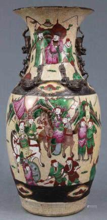 Vase / Vorratsgefäß. China alt.44 cm hoch. Der gehöhte Friesdekor wohl als Aufnahme für Seile zum