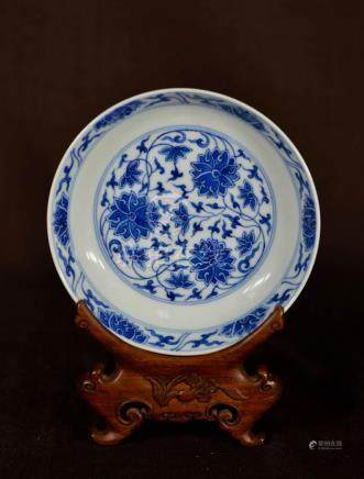 Chinese Blue White Porcelain Dish
