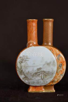 Chinese Double Moonflask Porcelain Vase