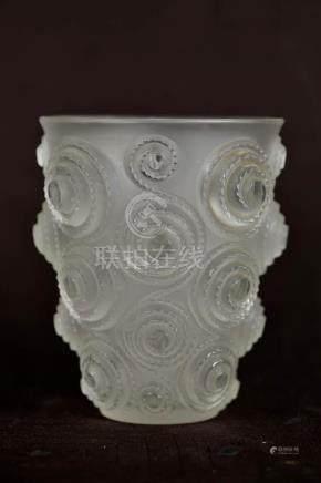Lalique Crystal Vase - Swirl