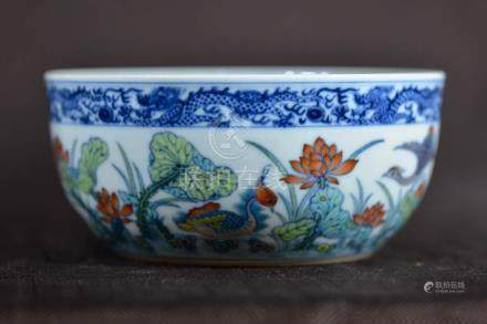 Chinese Porcelain Bowl with Lotus