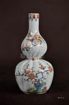 Japanese Kakeimon Porcelain Double Gourd Vase
