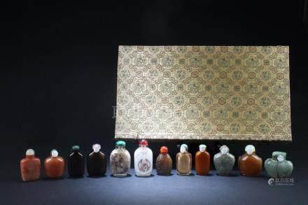 A Dozen of Chinese Snuff Bottles