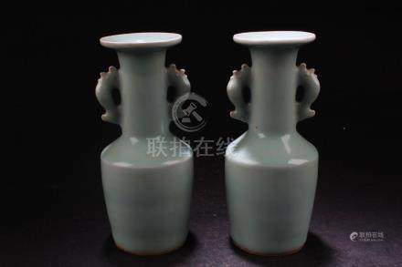 A Pair of Chinese Crackleware Porcelain Vases