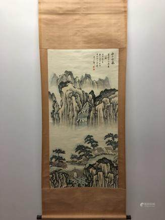 Chinese Hanging Scroll of Landscape
