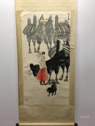 Chinese Hanging Scroll Of RuiXueTu