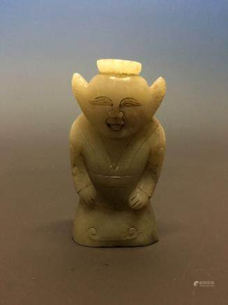 Chinese Archaic Jade Figure Statue
