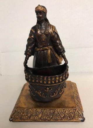 Small Antique Arabian Bronze and Gold Finish Sculpture