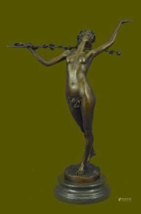 Original Aldo Vitaleh Nude Woodland Fantasy Statue